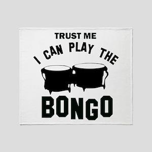 Cool Bongo designs Throw Blanket