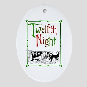Twelfth Night Ornament (Oval)