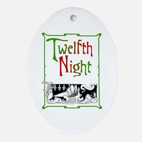 Twelfth Night Ornament (Oval)