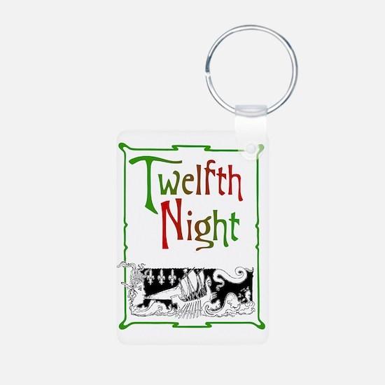 Twelfth Night Aluminum Photo Keychain