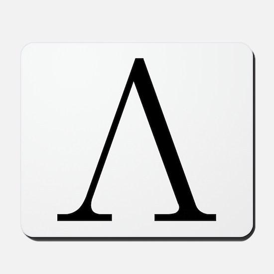 Greek Letter Lambda Mousepad