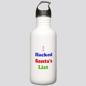 I hacked santas list Stainless Water Bottle 1.0L