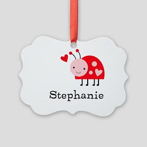 Ladybug (p) Picture Ornament