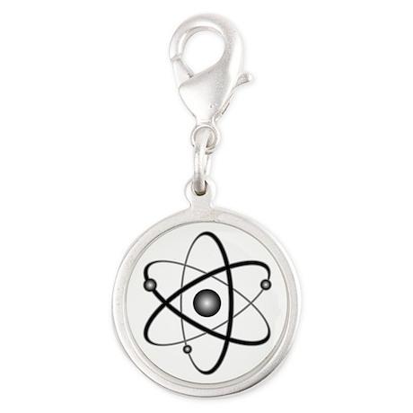 10x10_apparel_Atom Silver Round Charm
