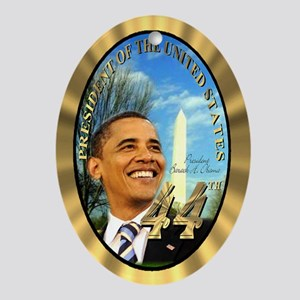 President Obama's Ornament (Oval)