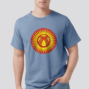 Kyrgyzstan Roundel Crack Mens Comfort Colors Shirt