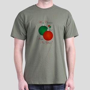 Merry Christmas Happy New Year(O) Dark T-Shirt