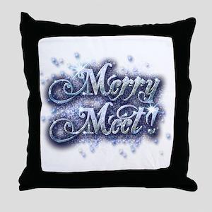 Merry Meet - Winter Throw Pillow