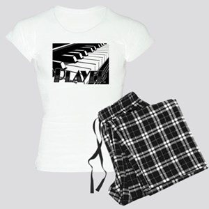 PLAYER- PIANO KEYS Women's Light Pajamas