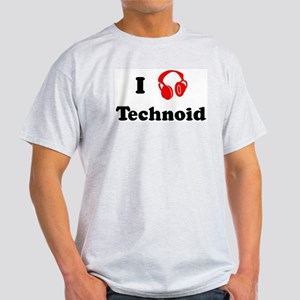 Technoid music Ash Grey T-Shirt