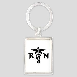 RN Nurse Medical Symbol Portrait Keychain