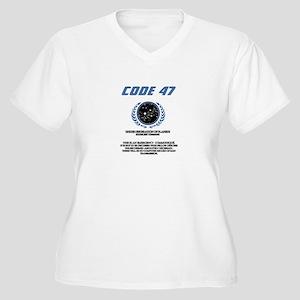 code 47 Women's Plus Size V-Neck T-Shirt