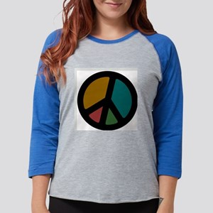 earthy_peace Womens Baseball Tee