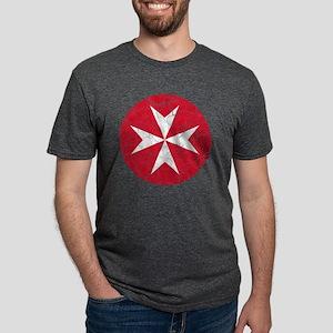Malta 2 Roundel Cracked Mens Tri-blend T-Shirt