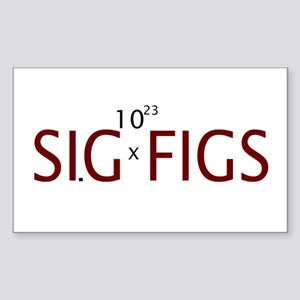 Sig Figs Rectangle Sticker