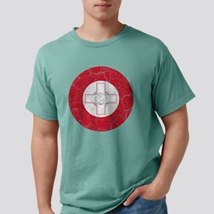 Malta Roundel Cracked.pn Mens Comfort Colors Shirt