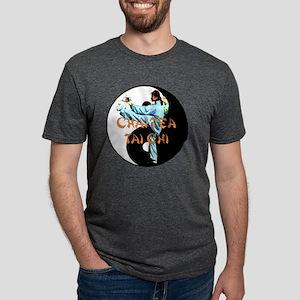 Tai Chi yin yang2 copy Mens Tri-blend T-Shirt