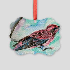 Purple Finch Picture Ornament