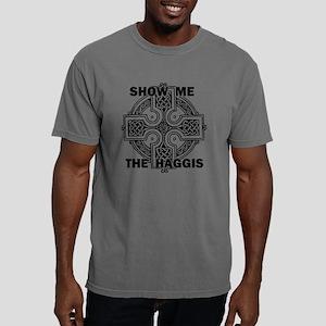haggiscrossflatBLACK Mens Comfort Colors Shirt