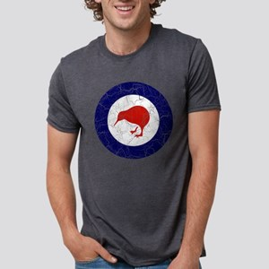 New Zealand Roundel Cracked Mens Tri-blend T-Shirt
