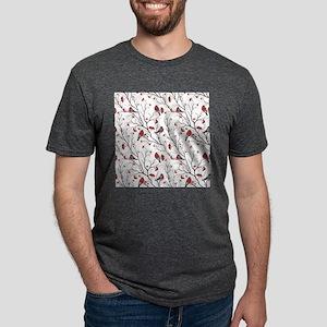 Winter Birds Marsala Red an Mens Tri-blend T-Shirt