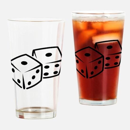 Dice Drinking Glass