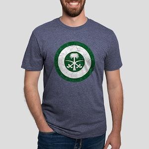 Saudi Arabia Roundel Cracke Mens Tri-blend T-Shirt