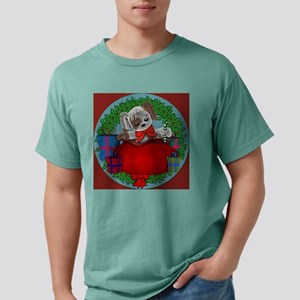 xmaspuppygiftsround Mens Comfort Colors Shirt