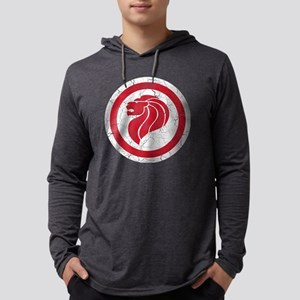 Singapore Lion Roundel Cracked.p Mens Hooded Shirt