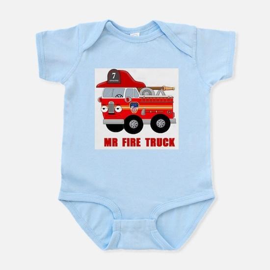 Mr Fire Truck Infant Bodysuit
