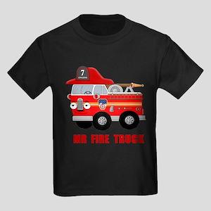 Mr Fire Truck Kids Dark T-Shirt
