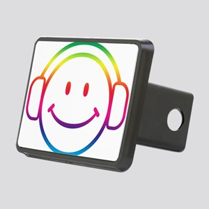 Smiley DJ Rectangular Hitch Cover