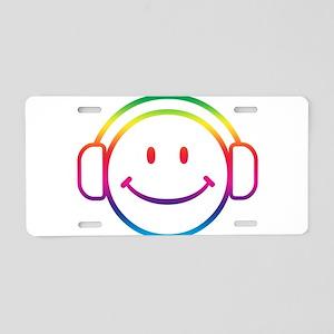 Smiley DJ Aluminum License Plate