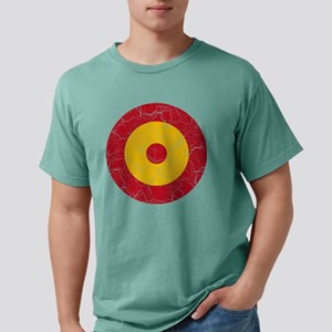 Spain Roundel Cracked.pn Mens Comfort Colors Shirt