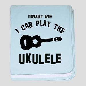 Cool Ukulele designs baby blanket