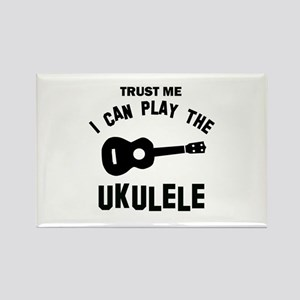 Cool Ukulele designs Rectangle Magnet