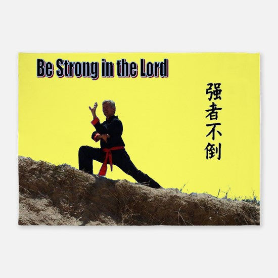 """""""Be Strong"""" 5'x7'Area Rug"""