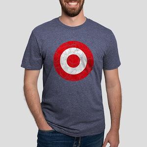 Turkey Roundel Cracked Mens Tri-blend T-Shirt