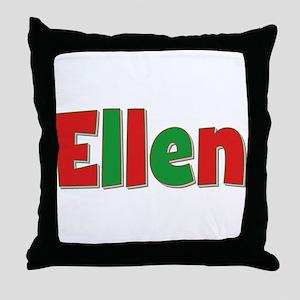 Ellen Christmas Throw Pillow