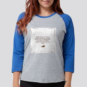 chocolate and fruit Womens Baseball Tee