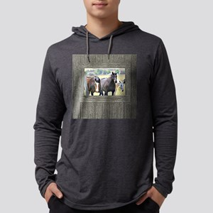Old window 3 horses Mens Hooded Shirt