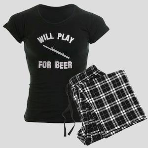 Will play the Basoon for beer Women's Dark Pajamas