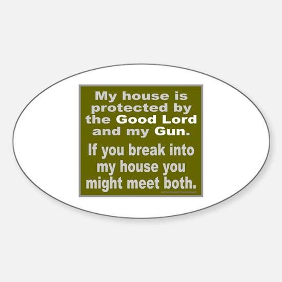 2ND/SECOND AMENDMENT Sticker (Oval)