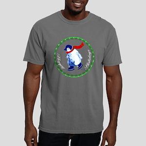 001E-Christmas-penguin-b Mens Comfort Colors Shirt