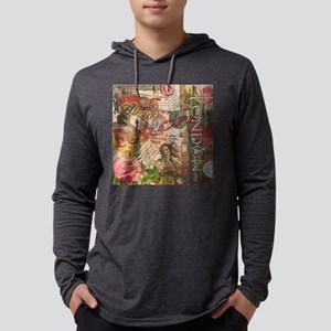 European Travel Vintage London R Mens Hooded Shirt