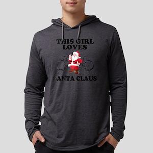 Girl Loves Santa Mens Hooded Shirt