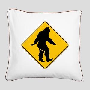 Bigfoot crossing Square Canvas Pillow