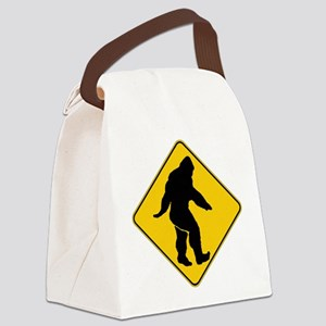 Bigfoot crossing Canvas Lunch Bag