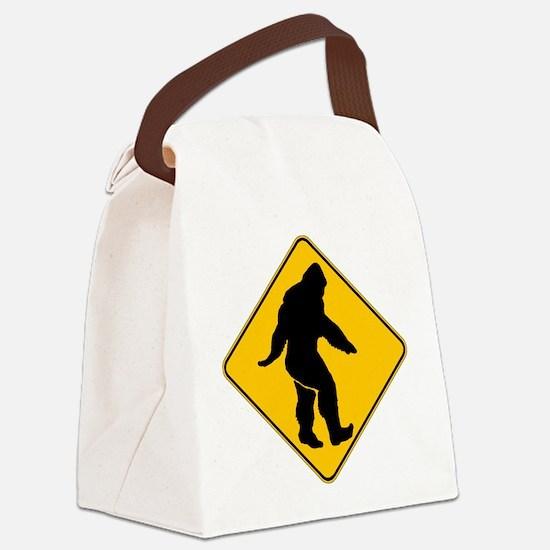 Bigfoot crossing Canvas Lunch Bag