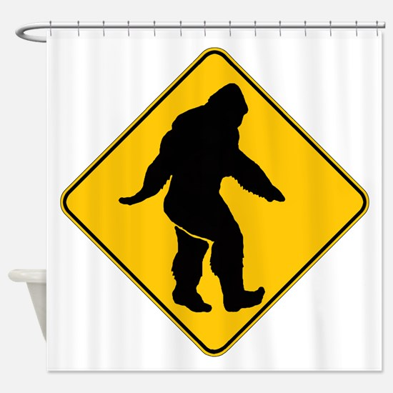Bigfoot crossing Shower Curtain